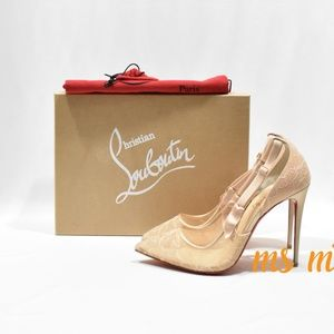 NIB Christian Louboutin Lace 100mm Pump